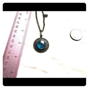 Vintage cabochon cat's eye necklace
